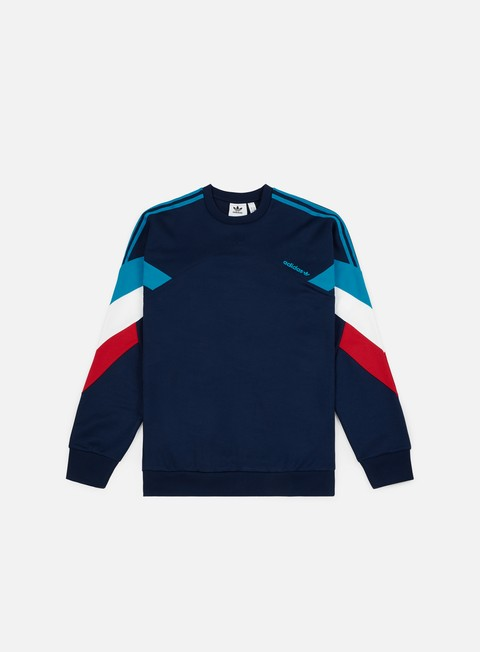 felpe adidas originals palmeston crewneck collegiate navy bold aqua