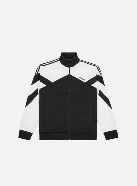 felpe adidas originals palmeston track top black white