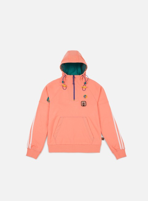 felpe adidas originals pharrell williams hu hiking hoodie sun glow eqt green
