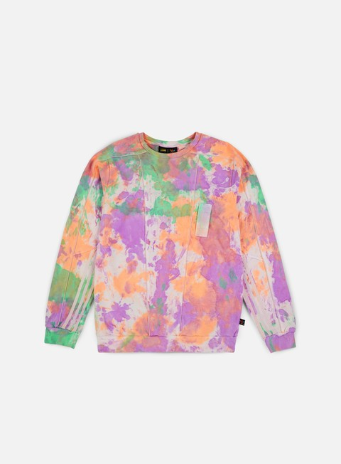 felpe adidas originals pharrell williams hu holi crewneck multicolor white