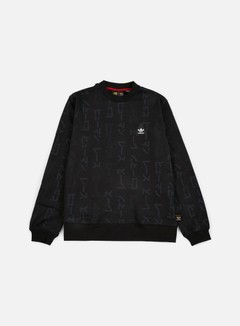 Adidas Originals - Pharrell Williams Hu Race Crewneck, Black 1