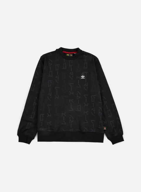 felpe adidas originals pharrell williams hu race crewneck black