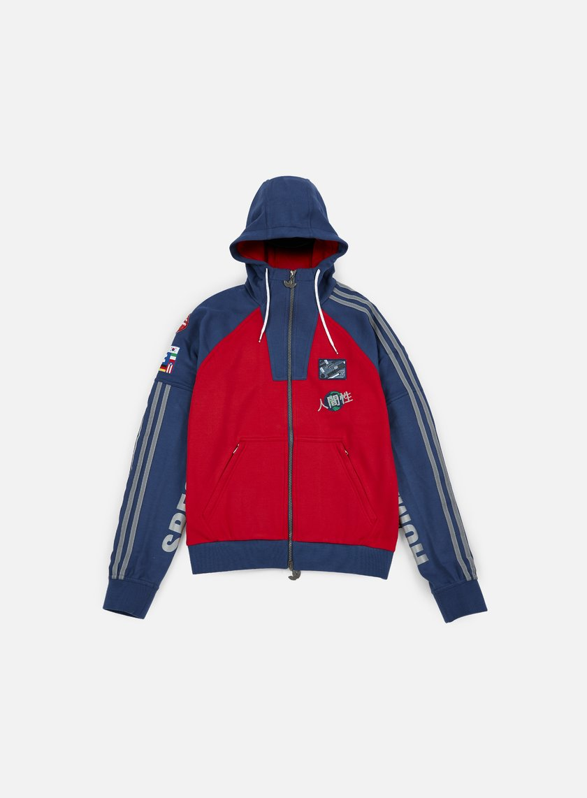 Adidas Originals - Pharrell Williams Hu Race Hoody, Scarlet/Night Marine