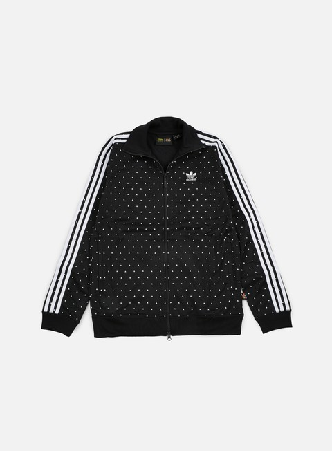felpe adidas originals pharrell williams hu race track jacket black white