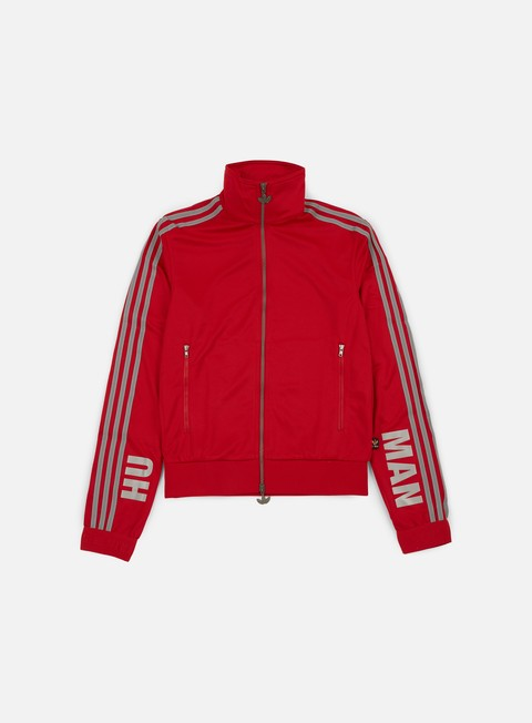 Outlet e Saldi Felpe con Zip Adidas Originals Pharrell Williams Hu Race Track Jacket