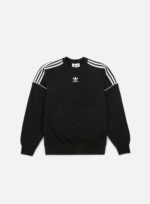 felpe adidas originals pipe crewneck black white