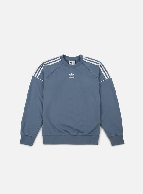 felpe adidas originals pipe crewneck raw steel white