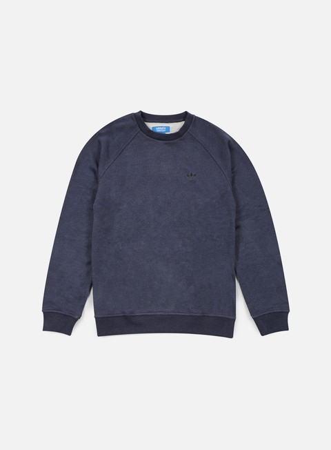 felpe adidas originals premium essentials crewneck collegiate navy melange