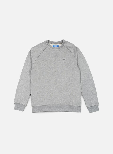 felpe adidas originals premium essentials crewneck core heather