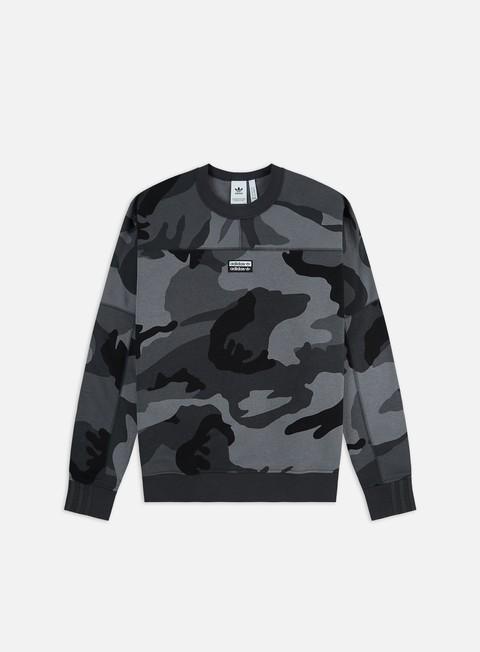 Outlet e Saldi Felpe Girocollo Adidas Originals R.Y.V. Camouflage Crewneck