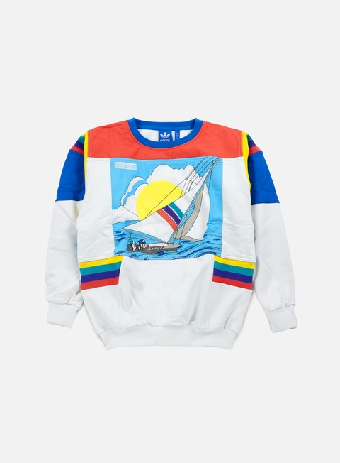 felpe adidas originals sailing art crewneck crystal white
