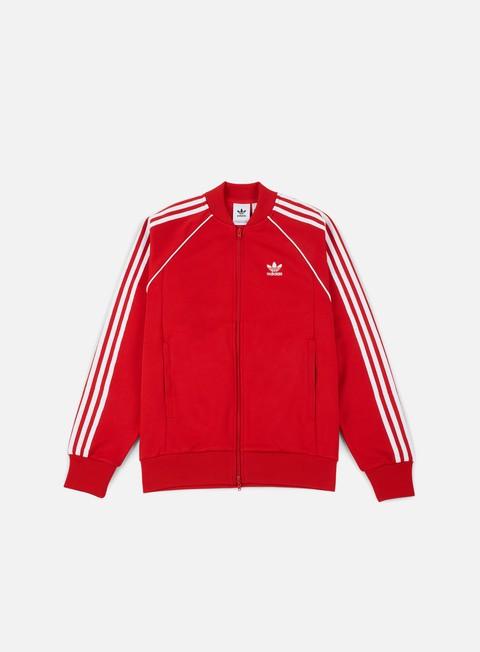 felpe adidas originals sst track jacket scarlet