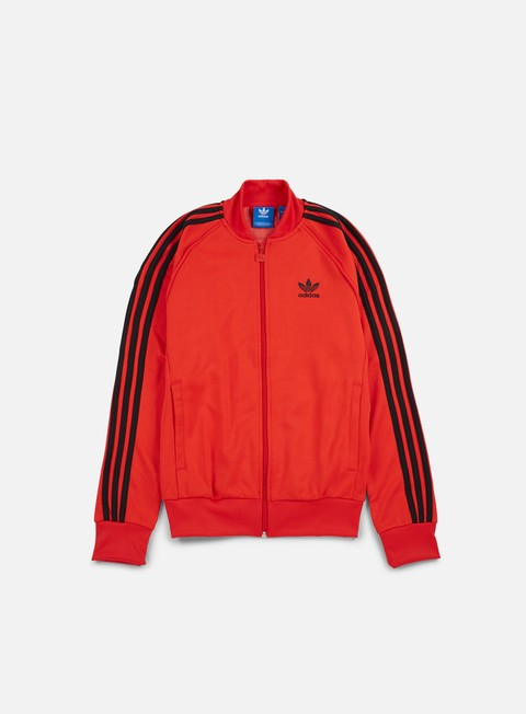 felpe adidas originals superstar track jacket core red