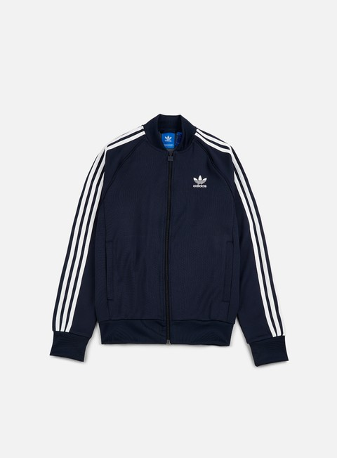 felpe adidas originals superstar track jacket legend ink white