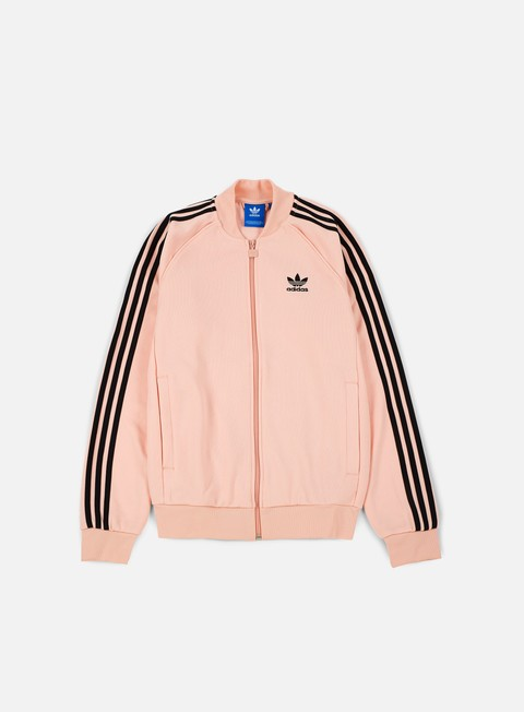 felpe adidas originals superstar track jacket vapour pink