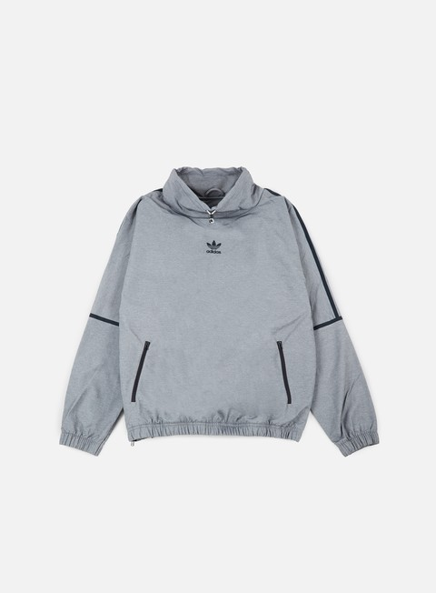 felpe adidas originals taped mock neck medium grey heather