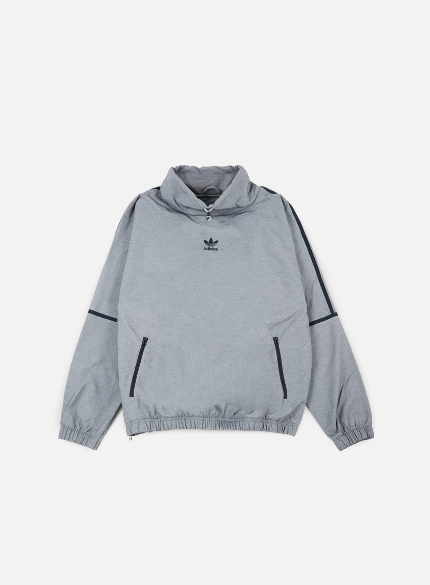 Adidas Originals - Taped Mock Neck, Medium Grey Heather