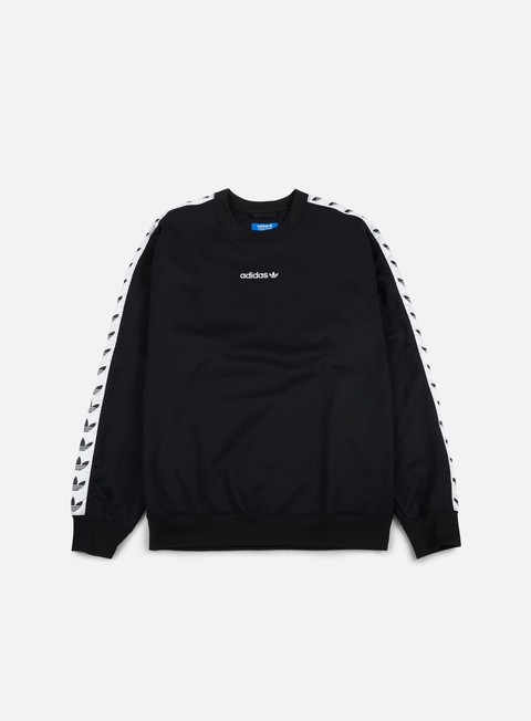 felpe adidas originals tnt tape crewneck black white