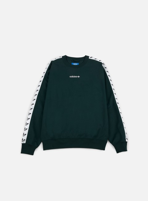 felpe adidas originals tnt trefoil crewneck green night white