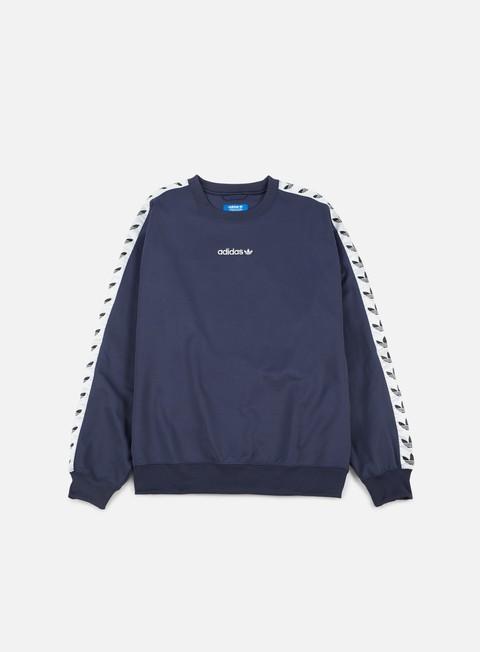 felpe adidas originals tnt trefoil crewneck trace blue white