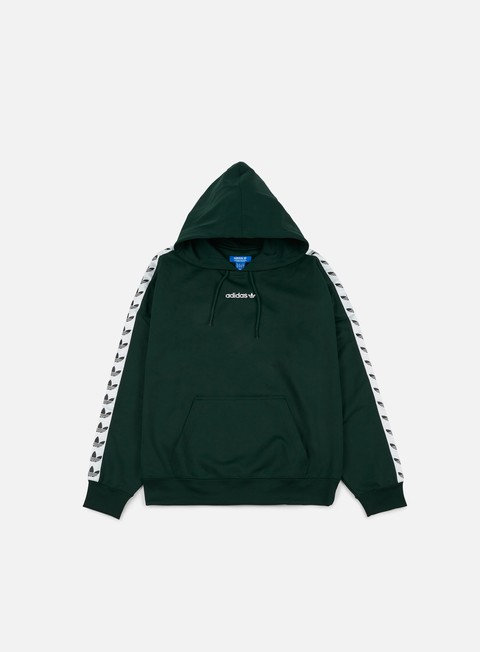 felpe adidas originals tnt trefoil hoodie green night white