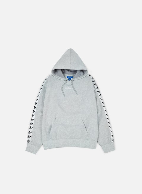 felpe adidas originals tnt trefoil hoodie medium grey heather white
