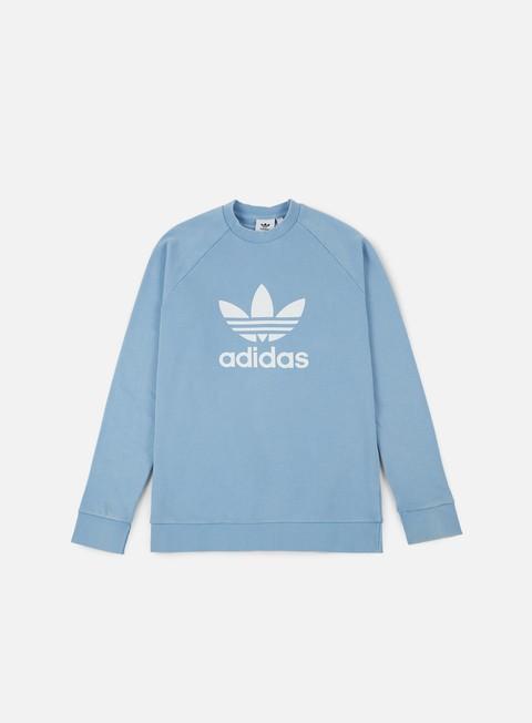 felpe adidas originals trefoil crewneck ash blue