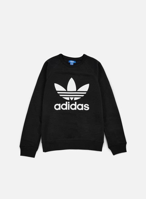 felpe adidas originals trefoil crewneck black
