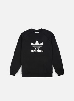 Adidas Originals - Trefoil Crewneck, Black/White