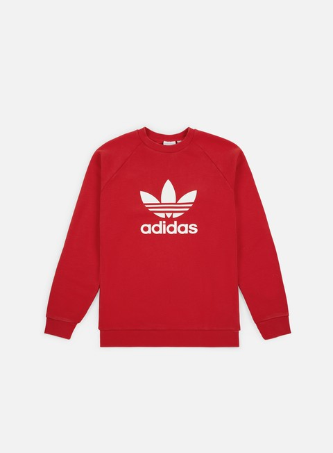 felpe adidas originals trefoil crewneck collegiate red
