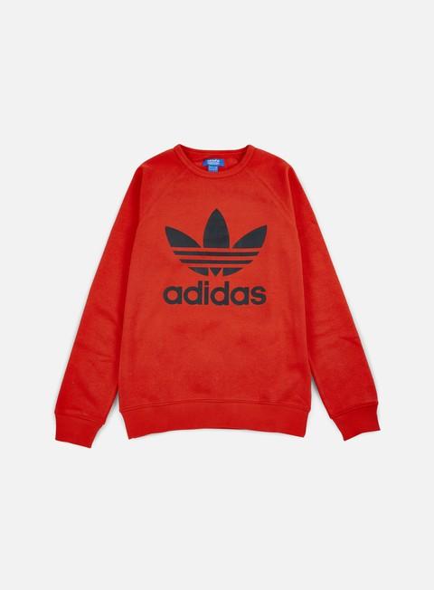 felpe adidas originals trefoil crewneck coral red