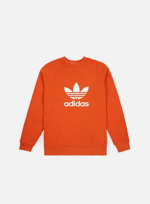 felpe adidas originals trefoil crewneck craft orange