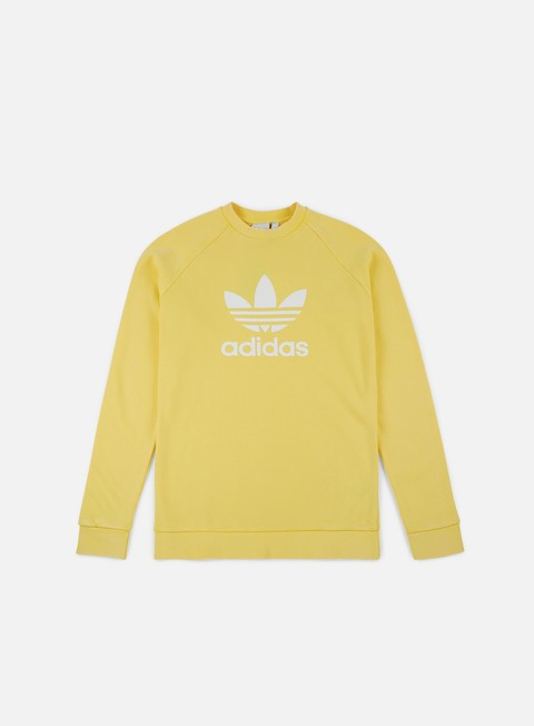 felpe adidas originals trefoil crewneck intense lemon