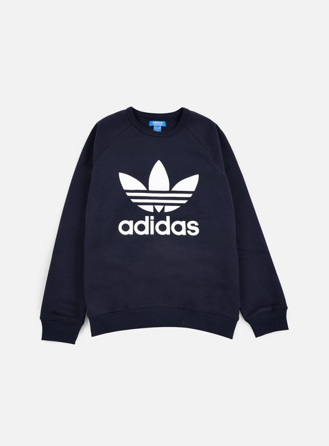 felpe adidas originals trefoil crewneck legend ink