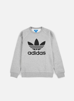 Adidas Originals - Trefoil Crewneck, Medium Grey Heather/Black