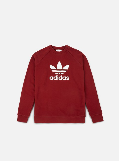felpe adidas originals trefoil crewneck rust red