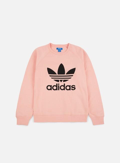felpe adidas originals trefoil crewneck vapour pink