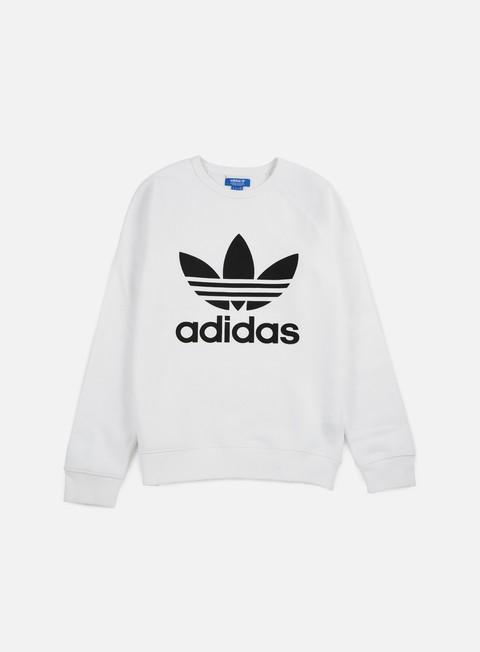 felpe adidas originals trefoil crewneck white