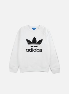 Adidas Originals - Trefoil Crewneck, White