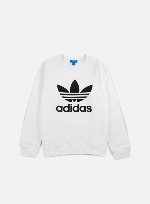 felpe adidas originals trefoil crewneck white old