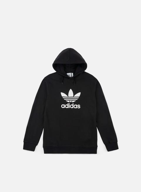 felpe adidas originals trefoil hoodie black white