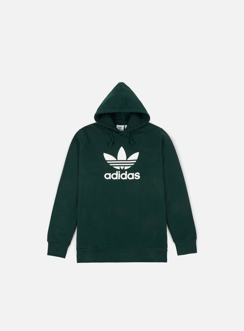 felpe adidas originals trefoil hoodie green night