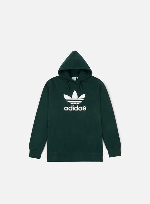 felpe adidas originals trefoil hoodie green night