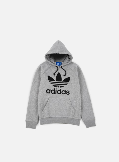 felpe adidas originals trefoil hoodie medium grey heather