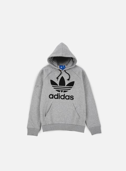 felpe adidas originals trefoil hoodie medium grey heather
