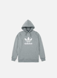 Adidas Originals - Trefoil Hoodie, Medium Grey Heather/White