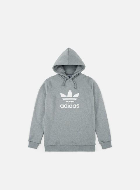 felpe adidas originals trefoil hoodie medium grey heather white