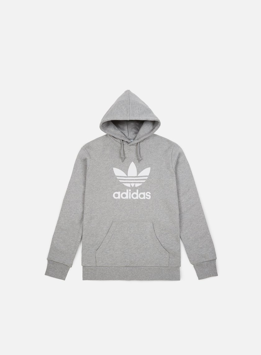 Adidas Originals Trefoil Hoodie Hoody Medium Grey Heather