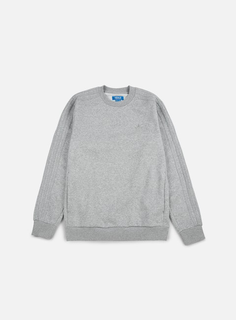 felpe adidas originals trefoil series crewneck medium grey heather