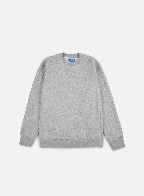 Adidas Originals - Trefoil Series Crewneck, Medium Grey Heather